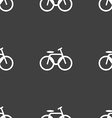 Bicycle bike icon sign Seamless pattern on a gray vector image vector image