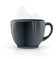 black hot teacup vector image vector image