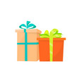 boxes icons gifts present in color wrapping vector image
