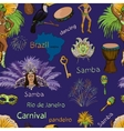 Brazilian Carnival Seamlees pattern vector image