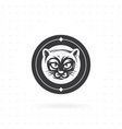 cat icon with circle vector image