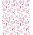 cute abstract hand drawn floral pattern vector image