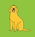 cute retriever character vector image