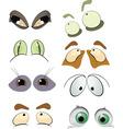 drawn eyes vector image