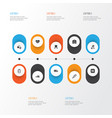 drug icons set collection of cure ache mark and vector image vector image