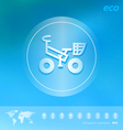 Ecology icon on the blurred background vector image vector image