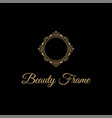 elegant and luxurious stylish gold frame logo vector image vector image