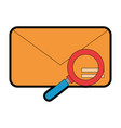 envelope mail with magnifying glass vector image vector image