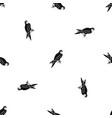 falcon pattern seamless black vector image vector image