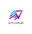 fast play motion play logo icon vector image