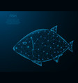 fish low poly design animal in polygonal style vector image vector image
