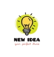 funny doodle style light bulb logo Sketchy vector image vector image