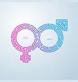 gender maze vector image vector image