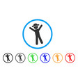 gentleman joy rounded icon vector image vector image