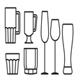 Glass cup icon5 vector image