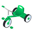 green tricycle icon isometric style vector image