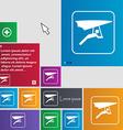 hang-gliding icon sign buttons Modern interface vector image vector image