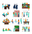 higher education person set vector image vector image