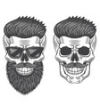 hipster skull monochrome isolated on white vector image