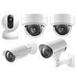 home security cameras video surveillance systems vector image vector image