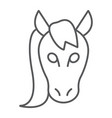 horse thin line icon animal and zoo vector image vector image
