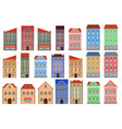 houses set of european old buildings outline vector image vector image