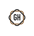 initial letter gh elegance logo design template vector image vector image