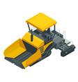 isometric asphalt paver asphalt spreading machine vector image vector image