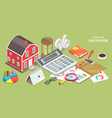 isometric flat concept mortgage vector image