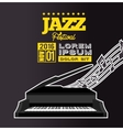 jazz festival poster piano notes black background vector image vector image