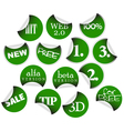 labels and badges vector image vector image