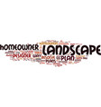 landscape plans resolved text background word vector image vector image