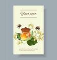 linden honey banner vector image vector image