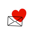 love letter symbol big heart shape sign with thin vector image