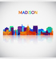 madison skyline silhouette vector image vector image