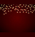 magic card with christmas lights border vector image vector image