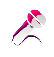 microphone sign detachable vector image