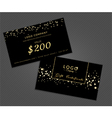 Modern glamour gift certificate vector image