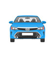 modern practical car in blue corpus front view vector image vector image