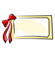 name plate with red ribbon on white background vector image