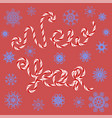 new year sign on red background vector image vector image