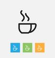of cook symbol on tea mug vector image vector image