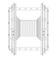 open empty cargo container wire-frame style vector image