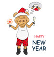pig for new year vector image