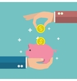 Piggy bank poster vector image vector image
