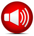 red loudspeaker icon vector image