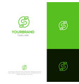 s with leaf logo template vector image vector image