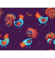 Seamless pattern of rooster background for vector image vector image