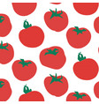 seamless pattern of tomato vector image