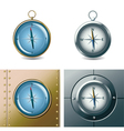 set different compasses vector image vector image